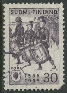Finland - Scott 356 - Bjorneborgienses -1958- Used - Single 30m Stamp