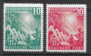 Germany 665-6 MNH set, see desc. 2019 CV $80.00