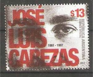 ARGENTINA 2017  JOURNALIST JOSE CABEZAS MNH YV 3167