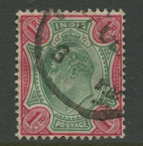 STAMP STATION PERTH India #70 KEVII Definitive Issue Used CV$1.00