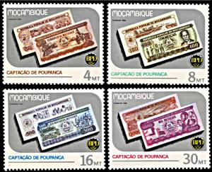 Mozambique 1000-1003, MNH, National Savings Campaign