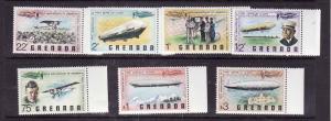 Grenada-Sc#834-40-Unused NH set-Planes-Aviation History-Zeppelins-1978-