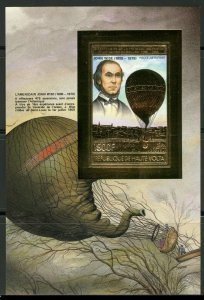 1983 Upper Volta 892/B67b gold Hot air balloon 18,00 €