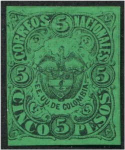 HERRICKSTAMP COLOMBIA Sc.# 64 Scott Retail $100.00 Mint Part OG