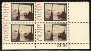 United States 1433  - FVF MNH Plate Block - Pl 33130  LR
