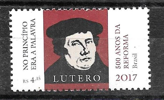 BRASIL BRAZIL 2017 RELIGION LUTHER ,REFORM 500° ANIV,MNH