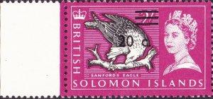BRITISH SOLOMON IS 1966 QEII 20c on 2/- Black, Bright Purple & Lilac with Gut...