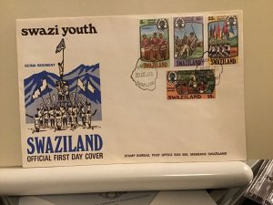 Swaziland FDC 1975 Swazi Youth multi stamp cover R25696