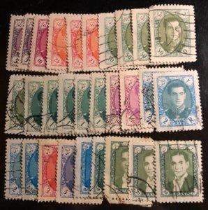 Iran Scott# 1082-1094 Used F/VF $7.25