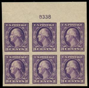 #484 TOP PLATE BLOCK XF-SUPERB OG NH BU2650