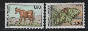 ANDORRA, 355-356, HINGED, 1987, NATURE