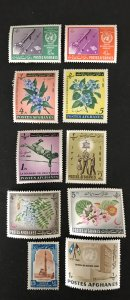 Afghanistan 10 Misc Unused/MH Issues-1960's