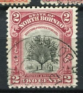 NORTH BORNEO; 1925 early Pictorial issue fine used 2c. value + Postal cancel