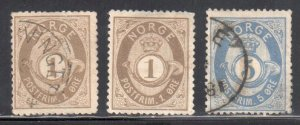 Norway #22, 24 USED and #22 Mint no gum