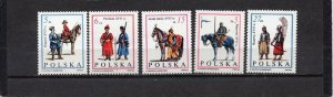 POLAND 1983 MILITARY UNIFORMS SET OF 5 STAMPS MNH