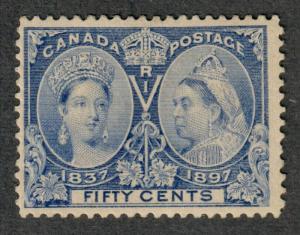 Canada Sc#60 M/F-VF, RG Over Tiny Thin, Cv. $375
