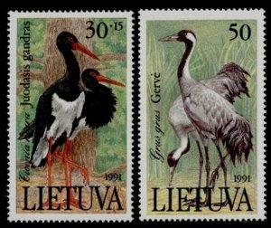 Lithuania 403-4 MNH Birds