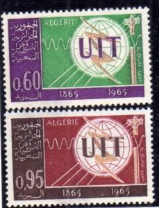 ALGERIA  ALGERIE 1965 UIT ITU COMPLETE SET SERIE COMPLETA MNH