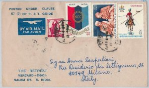 49010 - INDIA - POSTAL HISTORY - COVER to ITALY 1979 - GANDHI / UNIFORMS