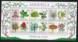 Anguilla #252a MNH S/Sheet - Flowering Trees