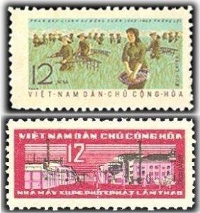 Vietnam 1963 MNH Stamps Scott 242-243 Chemical Industry Agriculture Fertilizing