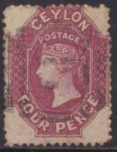 Ceylon 1863 SC 50 Used