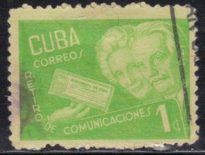 CUBA SC# 396  **USED** 1945   1c   SEE SCAN