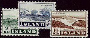 Iceland #302-304 Mint LH F-VF Value $16.50...Bid to win!!