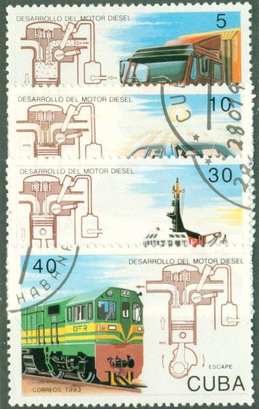 A2-0004 CUBA 3472-5 (MISSING 3476 USED BIN $1.25 TRAINS