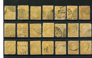 1c very nice Small Queen various cancels used lot Canada