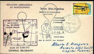 AANT-176 ANTARCTIC ANTARCTICA 1970 ARGENTINA METEOROLOGY BELGRANO STATION COVER