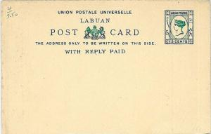 LIONS - POSTAL STATIONERY: LABUAN - HIGGINGS & GAGE #4