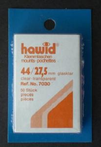 Hawid Stamp Mount 44/27.5 mm - CLEAR (Pack of 50) (44x27.5  44mm)  PRECUT  7030