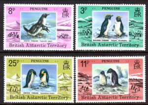 British Antarctic Territory 72-75 Penguins