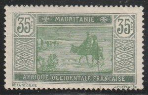 Mauritania #35 Mint Hinged Single Stamp