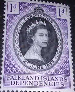 Falkland islands Dependencies Coronation of QEII