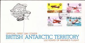British Antarctic Territory Scott 117-120 Unaddressed.