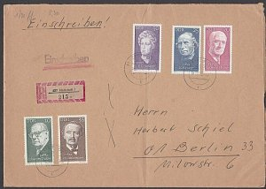 EAST GERMANY 1972 Registered cover - great franking.........................B358