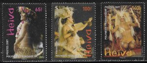 French Polynesia Scott #'s 951 - 953 MNH