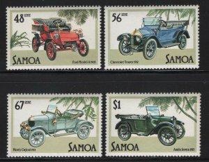 Samoa 1985 Vintage Automobiles set Sc# 641-44 NH
