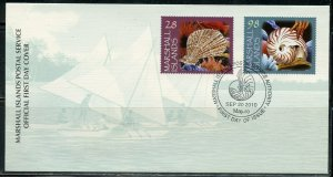 MARSHALL ISLANDS 2010 SEA SHELLS SET FIRST DAY COVER
