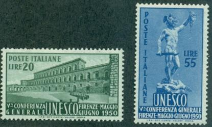 Italy #533-534  Mint VF NH  Scott $80.00