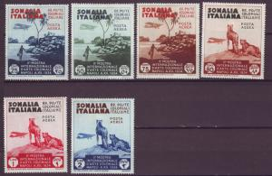 J21451 Jlstamp 1934 italy somalia set mh #c1-8 airplanes/view