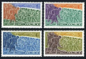 Viet Nam South 120-123,MNH. Constitution 4th Ann.1959.Volunteer Road workers.