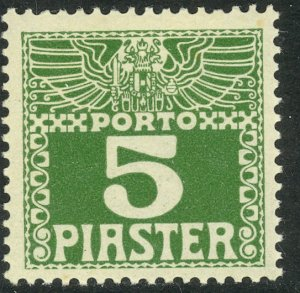 AUSTRIAN OFFICES IN TURKEY 1908 5pi Dark Green Postage Due Sc J11a MH