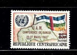 Central Africa Rep 18 MH 1962 overprint