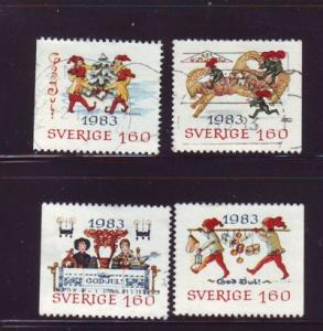 Sweden Sc1474-7 1983 Christmas stamps used