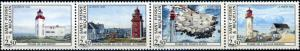 St. Pierre and Miquelon #580 Lighthouses Strip of 4