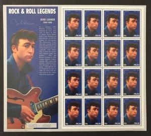 Palau 1995 #384 S/S, John Lennon, MNH.
