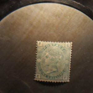 GB 64 1 shilling pale green (pl 11)